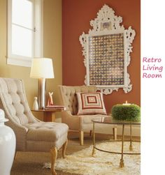 Warm color scheme, easy to tie in to different decades...