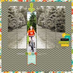 scrapbook layout learning how to ride a bike