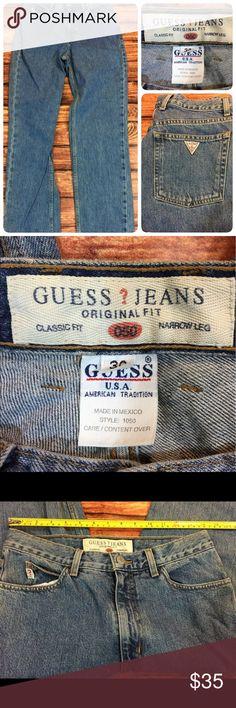 Guess Jeans Guess Jeans original fit classic fit narrow leg  size 30 W  31L Guess Jeans Straight Leg