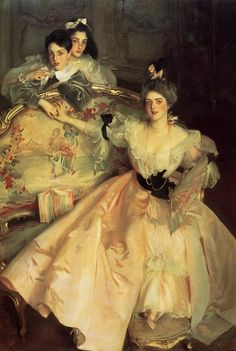 """""""Mrs. Carl Meyer, later Lady Meyer, and her Two Children """" (1896) by John Singer Sargent (1856-1925)."""
