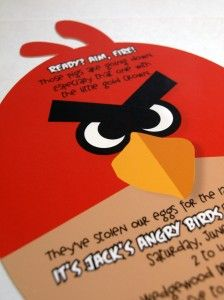 wow! awesome angry birds party invite.