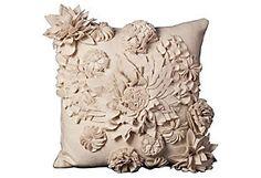 Garden 20x20 Pillow, Ivory  Nourison Industries Create a center piece.