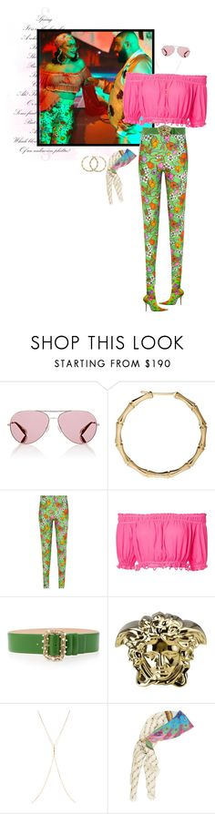 """Steal Her Style:Rihanna Wild Thoughts Video Clip"" by mariots22 ❤ liked on Polyvore featuring Oliver Peoples, Gucci, Balenciaga, Apiece Apart, Elie Saab, Versace, Chan Luu and vintage"