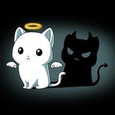 cute and funny art Purr Evil (Black) shirt TeeTurtle Pet Anime, Anime Animals, Cute Animals, Chibi, Cute Animal Drawings, Kawaii Drawings, Cartoon Drawings, Cartoon Cartoon, Cat Drawing