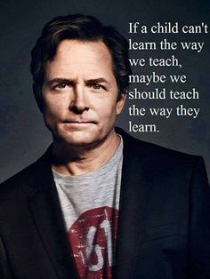 Inspirational - we all learn differently. Everyone is unique.