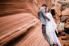 This insanely epic Slot Canyon Elopement in Arizona is the perfect inspiration for all your boho desert vibe elopement dreams! Slot Canyon, Amazing Places, The Good Place, Arizona, Wedding Photos, Wedding Inspiration, Dreams, Bride
