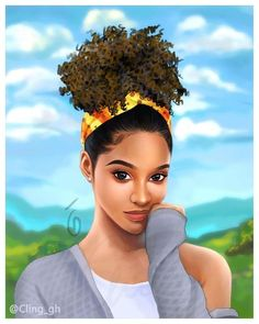 There are some cute hairstyles for black girls that you can use as the model of the creation. The great thing about black girl Art Black Love, Black Girl Art, Art Girl, African American Art, African Art, Natural Hair Art, Natural Hair Styles, Art Afro Au Naturel, Drawings Of Black Girls