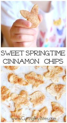 Spring or Easter Cinnamon Chips Snack for Kids