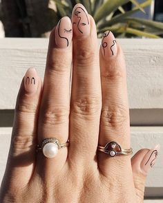 Nail Design Stiletto, Nail Design Glitter, Minimalist Nails, Stylish Nails, Trendy Nails, Hair And Nails, My Nails, Finger, Fire Nails