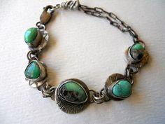 Metalwork Oxidized Sterling Silver Southwestern by jewelrybyDebra, $95.00