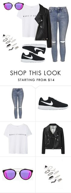 """""""Untitled #261"""" by charlotte-down on Polyvore featuring Topshop, NIKE, MANGO, Acne Studios and RetroSuperFuture"""