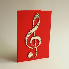 Musical note cut from sheet music