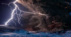 Puyehue Volcano eruption and lightning
