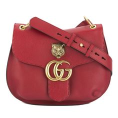 befa58b4ea8e Gucci Red Leather Gg Marmont Shoulder Bag. Get one of the hottest styles of  the