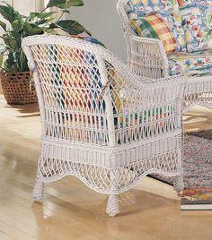 White Wicker Patio Furniture, Wicker Lounge Chair, Porch Furniture, Painted Furniture, Furniture Sets, Outdoor Furniture, Natural Home Decor, Rattan, Savannah House