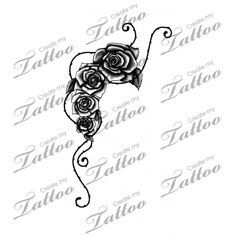 Marketplace Tattoo rose vine #21328 | CreateMyTattoo.com