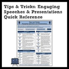 Engaging Speeches and Presentations Quick Reference >> Year-Long Tool for Students and Teachers >> #TPT #speech #CCSS #presentation #communication #media #anchorchart