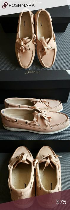 Sperry Top-Sider for J.Crew Authentic. Sperry Top-Sider for J.Crew Bow Boat Shoes. Leather upper and lining. Brand new. Comes with box. J. Crew Shoes Flats & Loafers