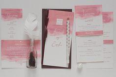 pink aquarelle wedding invitation collection Wedding Invitations, Pink, Collection, Wedding Invitation Cards, Pink Hair, Roses, Wedding Invitation, Wedding Announcements, Wedding Invitation Design