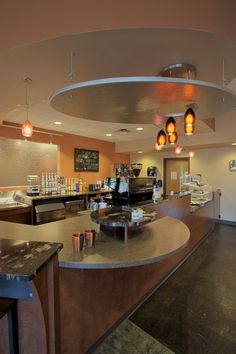 Not as extravagant, but possibly turn the kitchen as well. Making it the place to get food.   Church cafe. Naperville, IL #lobby
