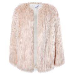 Sans Souci Pink long fur jacket
