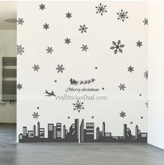 Snowy Christmas In New York Wall Decals New York Christmas, Merry Christmas, Wall Stickers, Wall Decals, Holiday, Home Decor, Art, Merry Little Christmas, Wall Clings