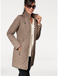 Beautiful Diamond Quilted Padded Slim Medium Length Car Coat 4 ...