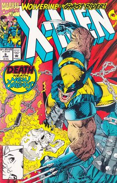 Wolverine vs. Ghost Rider, my first cross title crossover the x-men team with Ghost Rider to take on the alien race known as the Brood in New Orleans