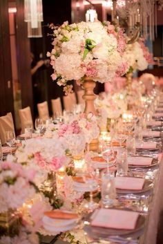 Imperial Table wedding reception flowers