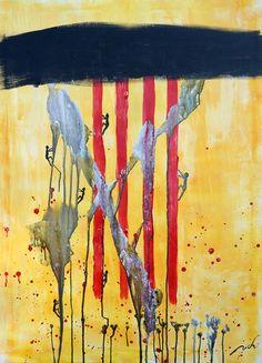 INDEPENDENTISTAS CATALALES | pintura en acrilico sobre lienzo | 70x100 | RRiRR Ricardo Gil Turrion