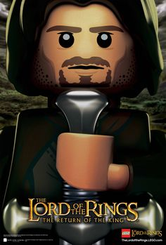 LEGO version of The Return of The King Poster. Damn he looks good even as Lego <3