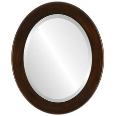 oval bathroom mirrors, oval frame mirror, oval mirrors, oval wall mirrors, mocha framed mirror, striped mirror Framed Mirrors, Oval Mirror, Bathroom Mirrors, Beveled Mirror, Oval Frame, Empty Wall Spaces, Matches Today, Contemporary Frames, Wood Source