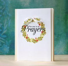 Mint Owl Studio-Thoughts and Prayers, card, stamps, stamping, sympathy card