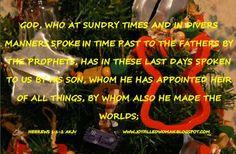 A Joy Filled Woman  : Verse of the Week - Hebrews 1:1-2 - December 21, 2...