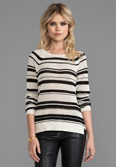 Sanctuary Mesh Rugby Sweater in Black Multi $79