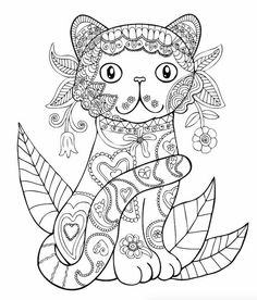 Coloring Sheets Pages Zentangles Drawing Black White Animals 15698049 1016629228448932 5889374142513275870 N