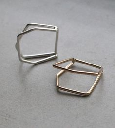 Architectural Double Ring by Elaine B Jewelry on Scoutmob Shoppe