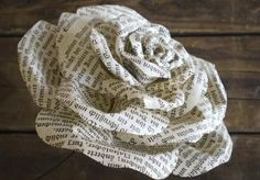 DIY Coiled Flowers Made from Newspaper or Old Book Pages :: Use This Tutorial to Help You Make Them!