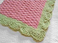 PDF Pattern for Very Melon Baby Blanket and Very Berry von PinkyRoo