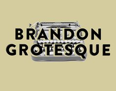 """Check out this @Behance project: """"Brandon Grotesque""""…"""