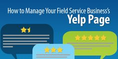 manage yelp page: Manage your Yelp page to better understand your customers, communicate with them, and even drive new traffic to your site. There is no reason not to claim your page and start working on it.