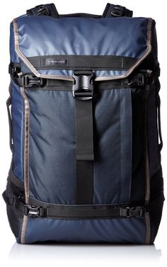 Timbuk2 Aviator Travel Backpack. Dual side stretch pockets fit water bottles or U-lock. External compression straps for cinching or expanding. Convert from suitcase to backpack by stowing straps and hip belt.