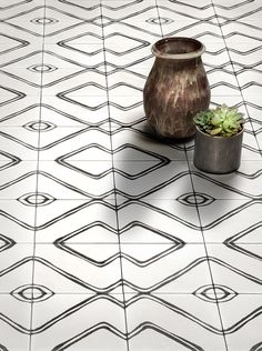Commune cement tiles carrelage graphique noir blanc white black