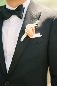 Boutonniere: http://www.stylemepretty.com/little-black-book-blog/2014/10/09/mission-viejo-wedding-full-of-classic-romance/ | Photography: Honey Honey - http://www.hoooney.com/