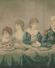 Philip & Anna Gidley King & family, 1799, by Robert Dighton,  State Library of NSW