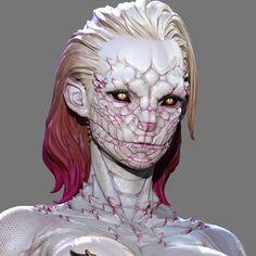 3d Fantasy, Fantasy Races, Monster Design, Monster Art, Mythical Creatures Art, Fantasy Creatures, Alien Character, Character Art, Fantasy Character Design