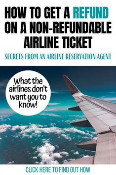 Can you get a refund from a non-refundable airline ticket? Secrets from an airline reservation agent - Moms Need A Break Too! Vacation Deals, Travel Deals, Travel Destinations, Travel Advice, Travel Hacks, Travel Essentials, Budget Travel, Major Airlines, Free Travel