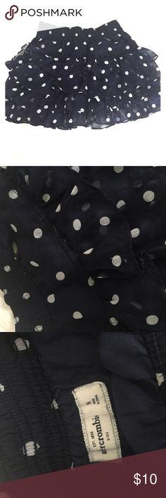 Abercrombie Girls Polka Dot Skirt Girls size 8-10 / M, navy & white abercrombie kids Bottoms Skirts