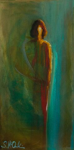 """""""Spiritual"""" by Shelby McQuilkin. Original artwork, abstract figurative, oil painting,art"""