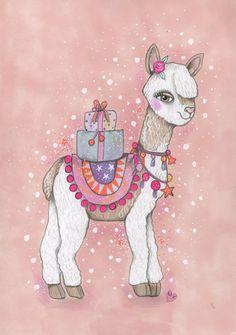 Magic Llama. veritycampbellart